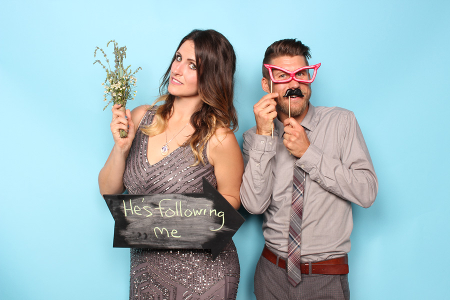photo booth rental pictures from an Orange Park Acres wedding reception