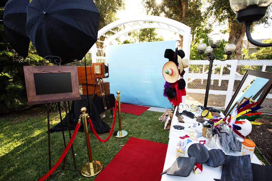 photo booth rental at an Orange Park Acres wedding reception